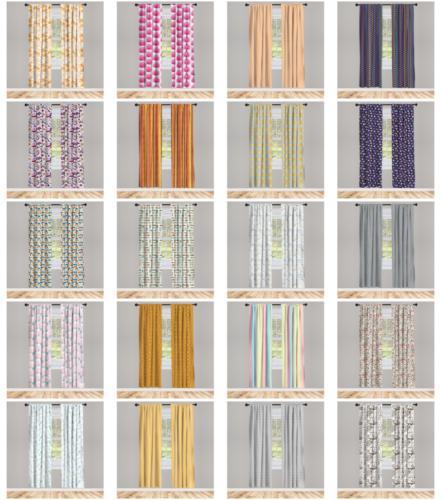 window drapes 2 panel set options