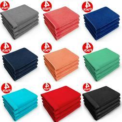 Kaufman - 30 X 60 Soft velour Bath Towel Solid  Color-Pool B