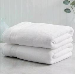 "Charisma Luxury Bath Towel White 30"" x 58"" Plush Soft Pile H"