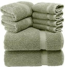 luxury green bath towel set hotel soft