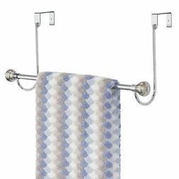 mDesign Metal Bathroom Over Shower Door Towel Rack Holder -