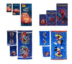 Disney Marvel 3 Piece Bath Towel Set Avengers Toy Story Mick
