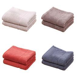 Men Women Cotton Absorbent Solid Color Soft Comfort Bathroom