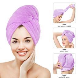 Microfiber Towel Quick Dry Hair Magic Drying Turban Wrap Hat