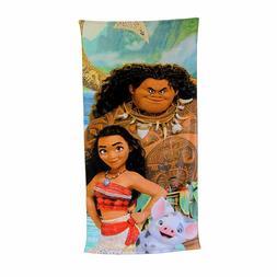 """Disney Moana Beach Towel 100% Cotton 28""""X58""""-Maui Moana Pua"""