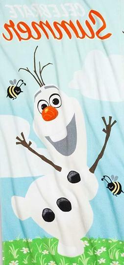 New Disney Frozen Celebrate Summer Olaf 100% Cotton Beach To