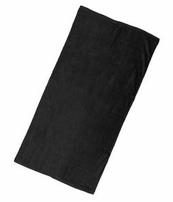 NEW Pack of 6 Black Beach Towels 30x60 - Velour Finish - Sol