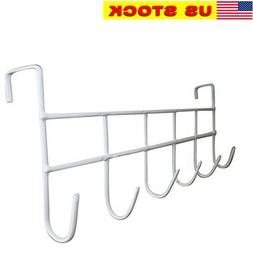 Over The Door Hook Organizer Rack Hanging Coat Hat Robe Towe