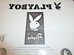 NEW Official Playboy Rabbit Head Black Beach Towel 30 x 60 I