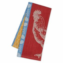 Design Imports ROOSTER Jacquard Weave  Cotton Kitchen Tea To