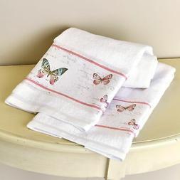 Rose Garden Bathroom Hand Towels - Farmhouse Accents - Set o