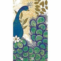 SALE! 16 Count DISPOSABLE Paper GUEST TOWELS ~ Peacock Blue