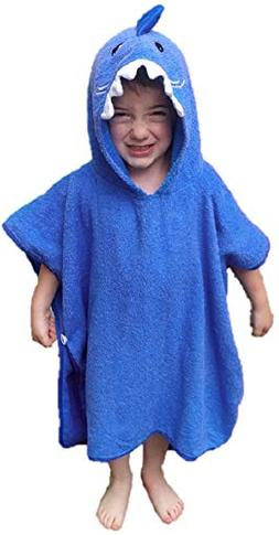 Softest Quick Dry Hooded Kids Shark Towel for Toddler - 5T  