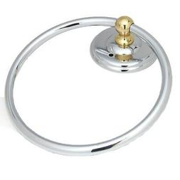 "AMEROCK Solid Brass 6"" Hanging Towel Bathroom Ring Polished"