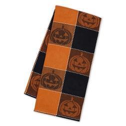 """Spooky Jack"" Halloween Jacquard Kitchen Towel by DII - Blac"