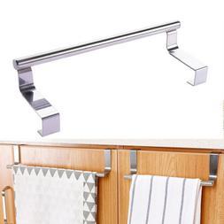 Over Door Towel Bar Hook Rack Kitchen Cabinet Storage Shelf