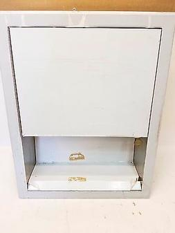 Stainless Steel Recessed Paper Towel Dispenser, Multi-Fold O