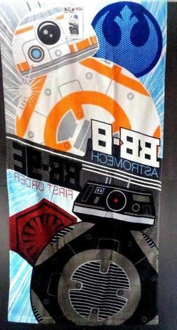"""Star Wars Droid Duo BB-8 & BB-9E Beach Bath Pool Towel  28"""""""
