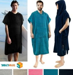 Surf Poncho Wetsuit Changing Robe Towel Hooded Pocket for Me