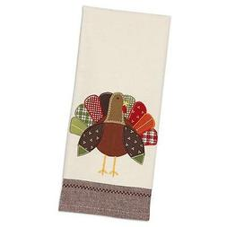 ** THANKSGIVING TOWEL - Turkey Embellished Cotton Kitchen To