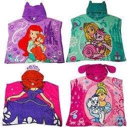 Toddler girls Disney Princess Beach Bath Body Poncho Wrap To