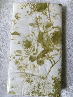 Amscan Toile Gold Guest/Buffet Towels, 2- 16 Count Packs, NE