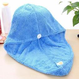Towel Cap Quick Dry Hair Turban Wrap Microfiber Cap Bathing