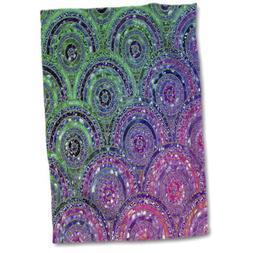 "3dRose"" Trendy Purple Feminine Faux Glitter Honeycomb Hexago"