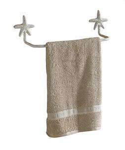 Park Designs Tropical Nautical Starfish Wall Towel Bar Rack