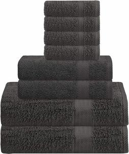 Glamburg Ultra Soft 8-Piece Towel Set - 100% Pure Ringspun C