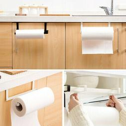 US_Paper Towel Holder Roll Toilet Wall Cabinet Mount Under R