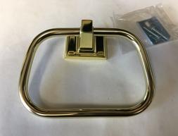 Vintage Polished Brass Gold Color Towel Ring Holder Stirrup