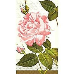 Amscan  VINTAGE ROSE 16 Count DISPOSABLE Paper GUEST TOWELS