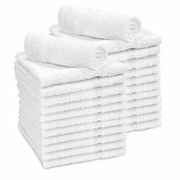 Washcloth White Towel 24Pcs 100% Cotton Face Cloth 12x12 Was