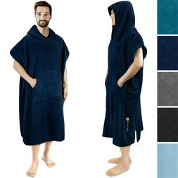 Watersport Surf Poncho Wetsuit Changing Robe Towel w/Hood &