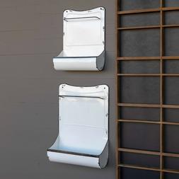 white wall bin towel bar set of