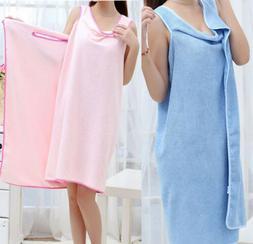 Womens Quick Dry Bathroom Bath Towels Bathrobes Terry Large